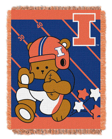 NCAA Illinois Fighting Illini Baby Blanket - Bed, Bath, And My Team