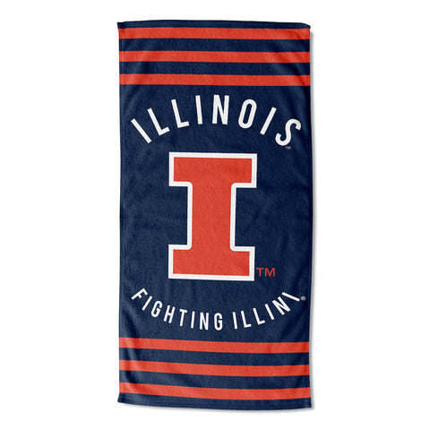 NCAA Illinois Fighting Illini Beach Towel - Bed, Bath, And My Team