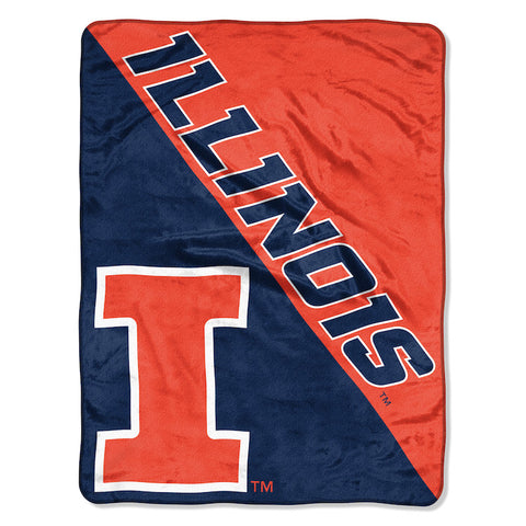NCAA Illinois Fighting Illini Micro Raschel Throw - Bed, Bath, And My Team