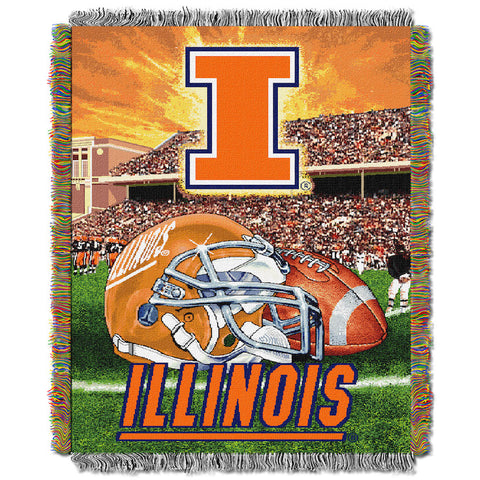 NCAA Illinois Fighting Illini HOME FIELD ADVANTAGE Tapestry - Bed, Bath, And My Team