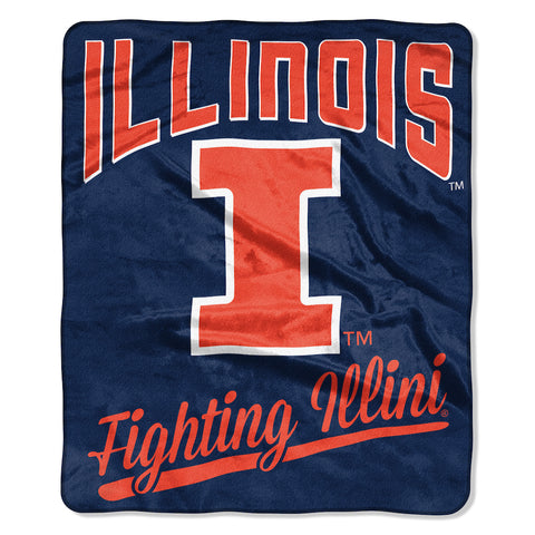 NCAA Illinois Fighting Illini 50 x 60 Alumni Raschel Throw Blanket - Bed, Bath, And My Team