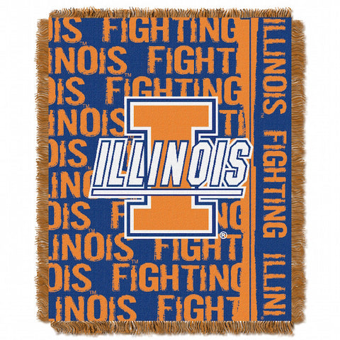 NCAA Illinois Fighting Illini Woven Decorative Tapestry - Bed, Bath, And My Team