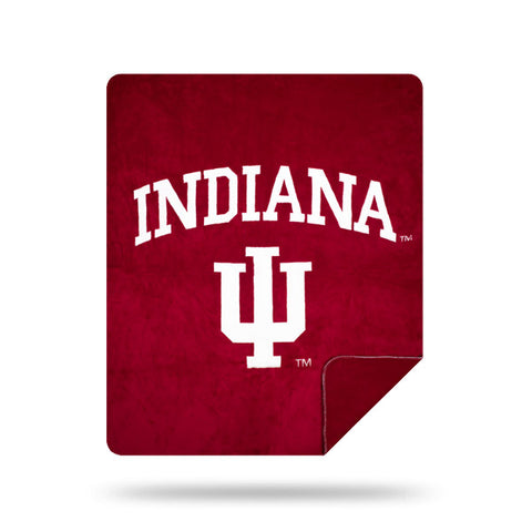 NCAA Indiana Hoosiers 60 x 72 DENALI Silver Knit Throw Blanket - Bed, Bath, And My Team