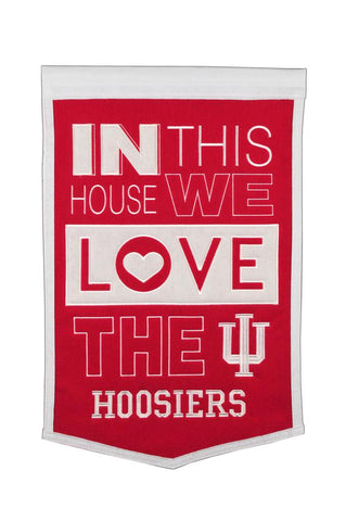 NCAA Indiana Hoosiers HOME Hanging Wool Banner - Bed, Bath, And My Team