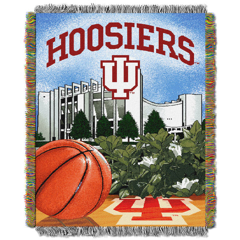 NCAA Indiana Hoosiers HOME FIELD ADVANTAGE Tapestry - Bed, Bath, And My Team