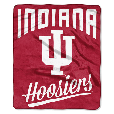 NCAA Indiana Hoosiers 50 x 60 Alumni Raschel Throw Blanket - Bed, Bath, And My Team