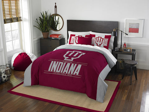 NCAA Indiana Hoosiers Queen/Full Comforter and Sham Set - Bed, Bath, And My Team