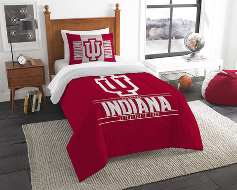 NCAA Indiana Hoosiers Twin Comforter and Pillow Sham - Bed, Bath, And My Team