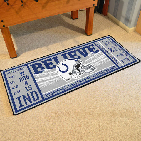 Indianapolis Colts Football Ticket Carpet Runner Rug