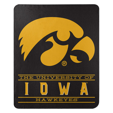 NCAA Iowa Hawkeyes Fleece Throw ~ 50 x 60 - Bed, Bath, And My Team