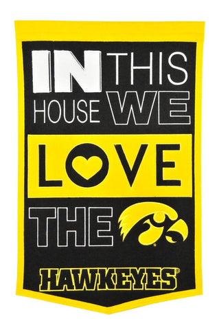 NCAA Iowa Hawkeyes HOME Hanging Wool Banner - Bed, Bath, And My Team
