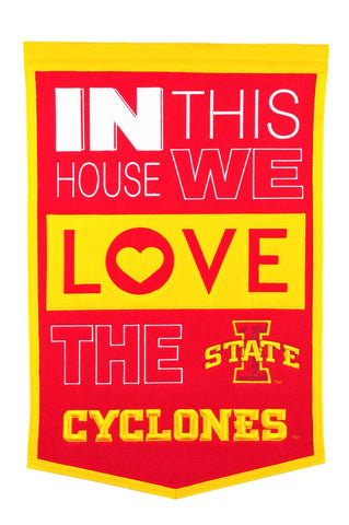NCAA Iowa State Cyclones HOME Hanging Wool Banner - Bed, Bath, And My Team