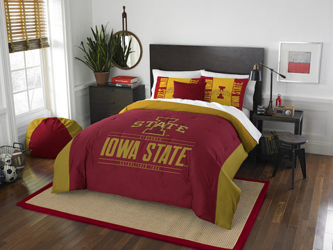 NCAA Iowa State Cyclones Queen/Full Comforter and Sham Set - Bed, Bath, And My Team