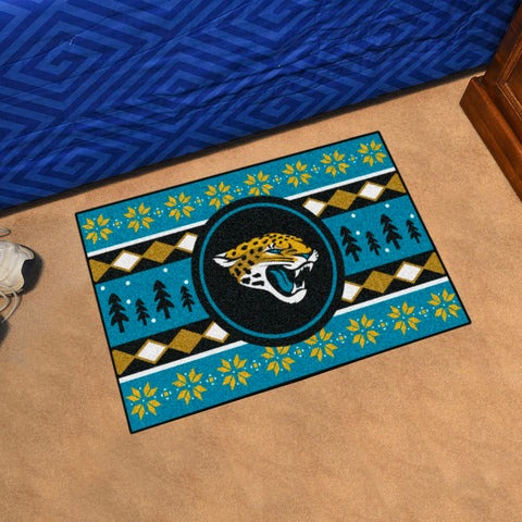 Jacksonville Jaguars Holiday Sweater Rug