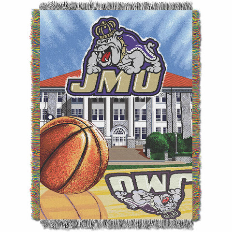 NCAA James Madison Dukes HOME FIELD ADVANTAGE Tapestry - Bed, Bath, And My Team