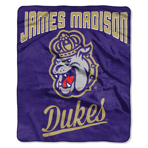NCAA James Madison Dukes 50 x 60 Alumni Raschel Throw Blanket - Bed, Bath, And My Team