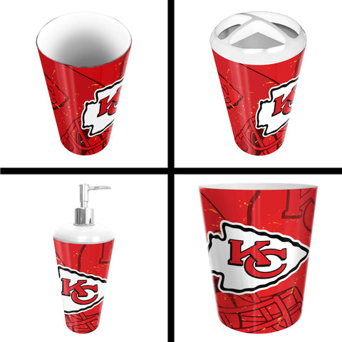 Kansas City Chiefs bathroom accessory set