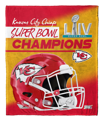 Kansas City Chiefs Super Bowl 54 Champs silk touch blanket