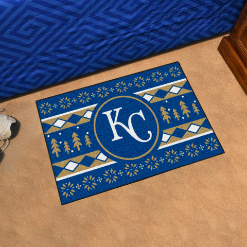 MLB Kansas City Royals CHRISTMAS SWEATER Starter Rug - Bed, Bath, And My Team