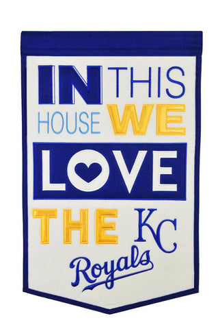 MLB Kansas City Royals HOME Hanging Wool Banner - Bed, Bath, And My Team