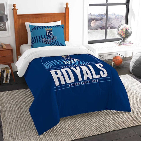 Kansas City Royals twin comforter and pillow sham