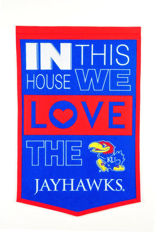 NCAA Kansas Jayhawks HOME Hanging Wool Banner - Bed, Bath, And My Team