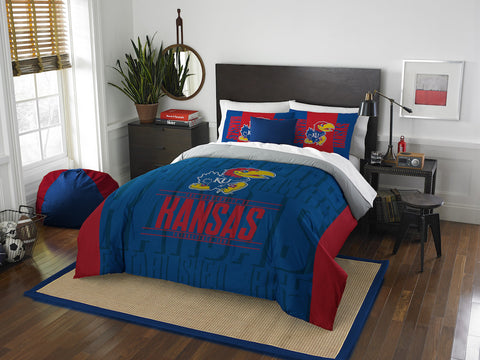 NCAA Kansas Jayhawks Queen/Full Comforter and Sham Set - Bed, Bath, And My Team