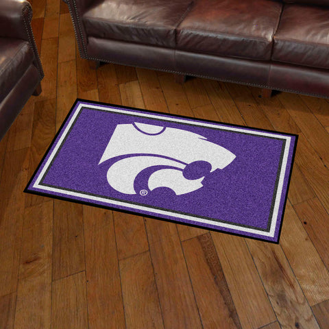 NCAA Kansas State Wildcats 3 X 5 Ft. Plush Area Rug - Bed, Bath, And My Team