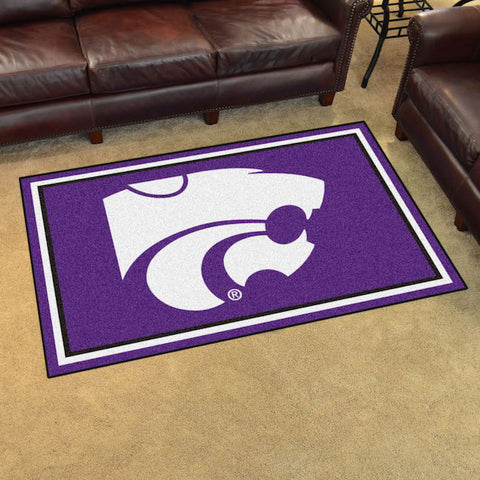 NCAA Kansas State Wildcats 4 X 6 Ft. Area Rug - Bed, Bath, And My Team