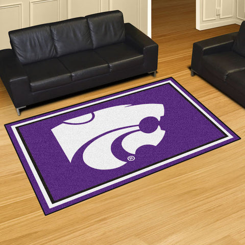 NCAA Kansas State Wildcats 5 X 8 Ft. Area Rug - Bed, Bath, And My Team