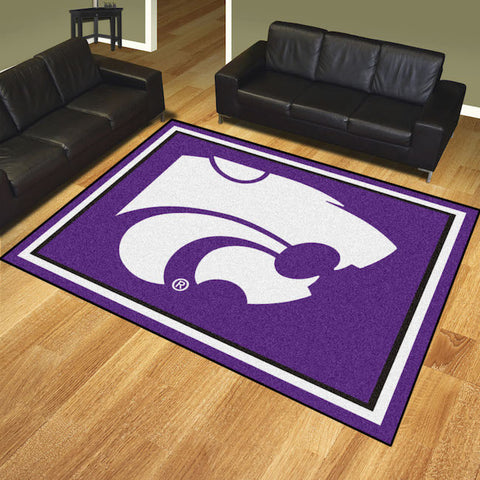 NCAA Kansas State Wildcats 8 X 10 Ft. Area Rug - Bed, Bath, And My Team