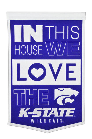 NCAA Kansas State Wildcats HOME Hanging Wool Banner - Bed, Bath, And My Team