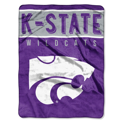 NCAA Kansas State Wildcats 60 x 80 Large Plush Raschel Throw Blanket - Bed, Bath, And My Team