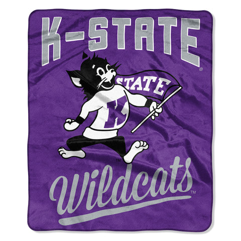 NCAA Kansas State Wildcats 50 x 60 Alumni Raschel Throw Blanket - Bed, Bath, And My Team