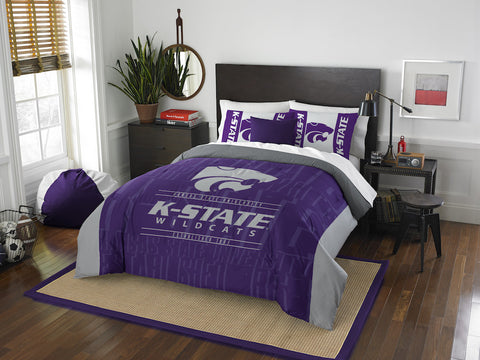 NCAA Kansas State Wildcats Queen/Full Comforter and Sham Set - Bed, Bath, And My Team