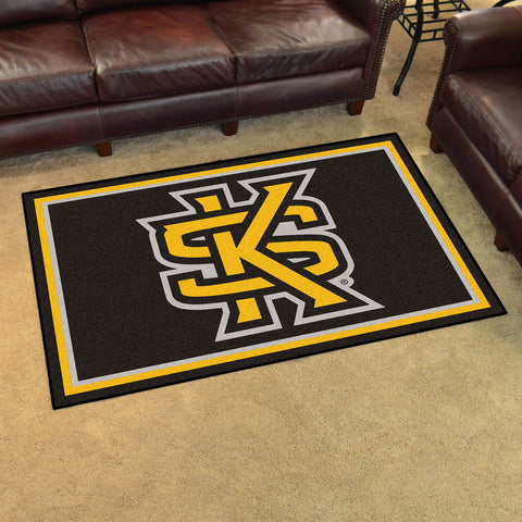 NCAA Kennesaw State Owls 4 X 6 Ft. Area Rug - Bed, Bath, And My Team
