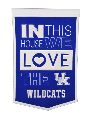 NCAA Kentucky Wildcats HOME Hanging Wool Banner - Bed, Bath, And My Team