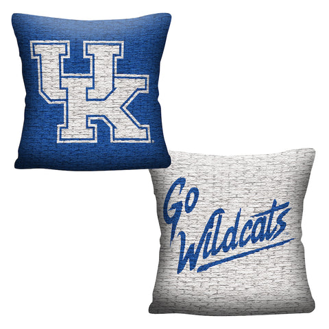 NCAA Kentucky Wildcats INVERT Throw Pillow - Bed, Bath, And My Team