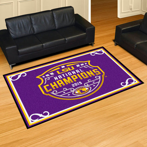LSU Tigers NCAA Football Champions 5 x 8 area rug