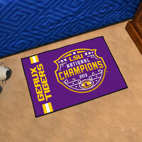 LSU Tigers NCAA Football Champions Starter Mat