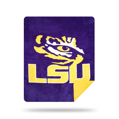 NCAA LSU Tigers 60 x 72 DENALI Silver Knit Throw Blanket - Bed, Bath, And My Team