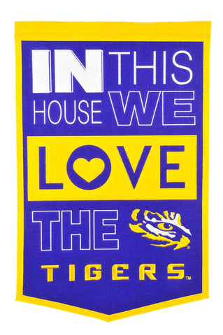 NCAA LSU Tigers HOME Hanging Wool Banner - Bed, Bath, And My Team