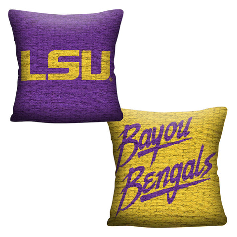 NCAA LSU Tigers INVERT Throw Pillow - Bed, Bath, And My Team