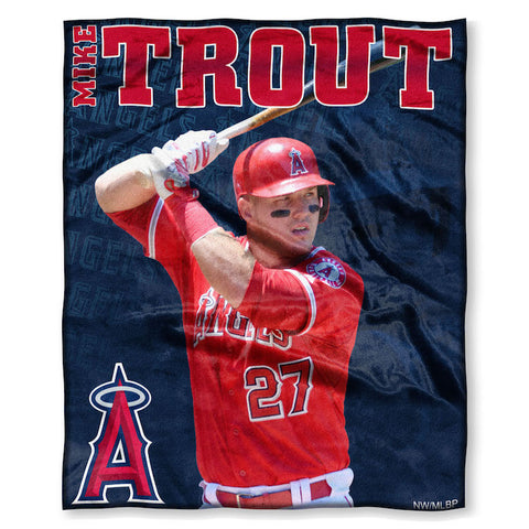Los Angeles Angels Mike Trout Blanket