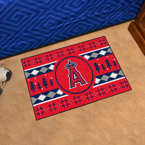 Los Angeles Angels Holiday Sweater Rug