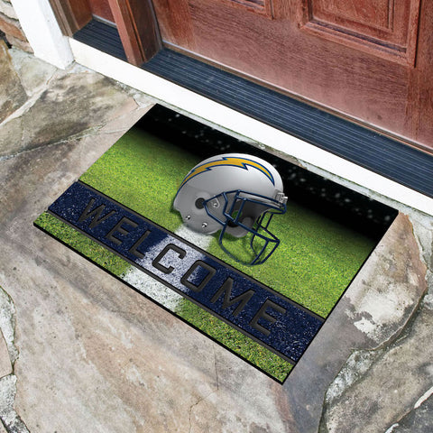 NFL Los Angeles Chargers Recycled Rubber CRUMB Doormat - Bed, Bath, And My Team