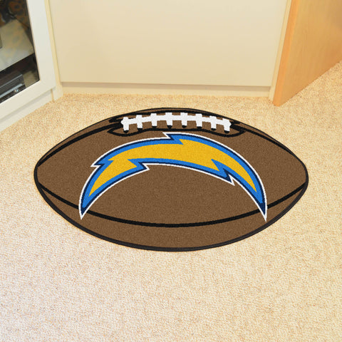 Los Angeles Chargers Football Mat