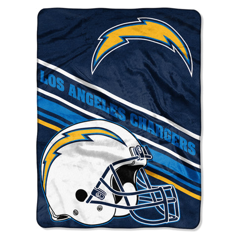 Los Angeles Chargers large plush blanket