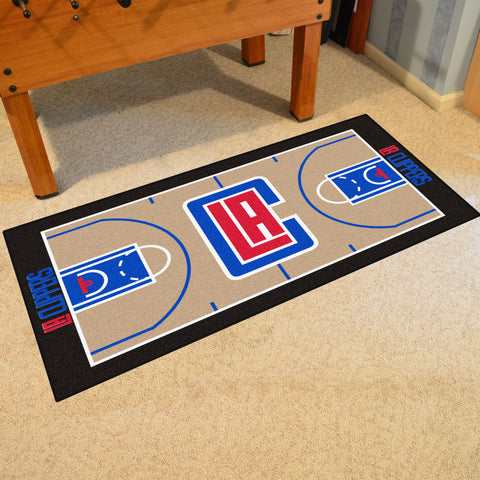 Los Angeles Clippers Basketball Court Carpet Runner Rug