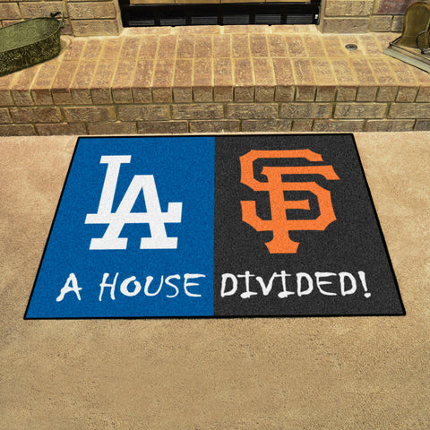 Los Angeles DodgersSan Francisco Giants Rivalry Rug